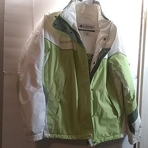 COLUMBIA GREEN/WHITE CORE WOMEN'S JACKET